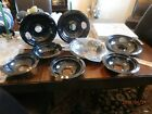 8 Pack  2 sets new Porcelain Black Drip Pans Bowls
