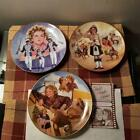 Viintage 3 Shirley Temple Plates, Poor Little Rich Girl,Bright Eyes,Wee Willie