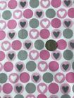 Cotton Snuggle Flannel Fabric BTHY 1 2 YD Hearts in Dots Pink Gray on White