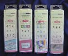 Set of 4 ALPHABET  NUMBERS Clear Stamps Plaid All Night Media Whimsical Design
