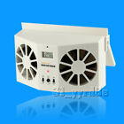Ivory Solar Power Car Air Cooler Ventilator Front Rear Window Air Cooling Fan