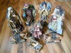 Old Vintage Tall 16 Nativity Set Lot 8 Statues Figures Figurines Indoor Outdoor
