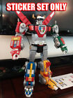 Playmates VOLTRON 84 Classic style custom UNCUT sticker set FREE SHIPPING