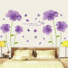 Purple Dream Flowers D Hoom Room Decor Removable Wall Sticker Decal Wandtattoo