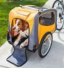 2 in 1 Bicycle Pet Trailer Stroller Carrier Dog Wagon Pet Travel Up To 50lbs