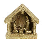Holiday Decorations Resin Gold Nativity Creche
