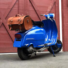 Motorcycle Scooter Vespa Lambretta Leather Top Case Bag