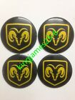 4pcs Fit Dodge Viper Car Wheel Center Hub Cap Emblem Badge Decal Sticker 56.5mm