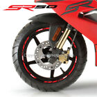 SR50 aprilia Racing 14'' wheel decals stickers rim stripes SR 50 scooter Red
