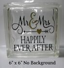 Happily Ever After wedding decal sticker for 8 Glass Block DIY