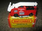 VINTAGE 1982 MATCHBOX LESNEY SNORKEL FIRE TRUCK LAFD 63 NEW W BOX FREE SHIPPING