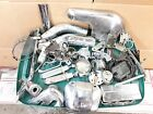 Harley Shovelhead Parts Lot Exhaust Heat Shields Clamps Foot Pegs Electronic Ign