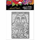 Stampendous Cling Mounted Rubber Stamps Laurel Burch Happy Birthday Cat