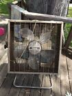 Vintage Galaxy Box Fan with Stand 3 Speed