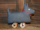 Primitive Scotty Dog Wooden Spools Scottie Cupboard Tuck Shelf Sitter
