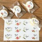 12 60 120pcs Flower Thank you Adhesive Seal Stickers Label Scrapbooking Decor