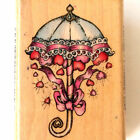 MOUNTED RUBBER STAMP  Comotion 671 Cabbage Roses 1993 Floral Bouquet Flowers