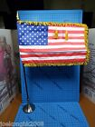 DID 16 Us Presidential Election 2008 Obama Figure America Flag w Metal Stand