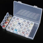 28 Slots Empty Plastic Storage Box Nail Art Jewelry Display Container Case