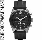 Emporio Armani Black/Silver Quartz Analog Men's Watch AR0527 NEW
