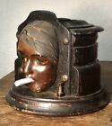 Graham Art Deco Flapper Cigarette Dispenser Face VTG