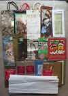Christams Gift bag lot wrapping paper twinkle metallic tissue box bag lining