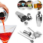 5x Stainless Steel Cocktail Shaker Mixer Drink Bartender Tools Bar Kit Set 550ML