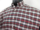 Ralph Lauren The Big Oxford Plaid Shirt Mens Extra Large 100 Cotton Red Green