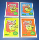 LOST WACKY PACKAGES BOX STICKERS 4TH SERIES BLACK LUDLOW SET #11 20 @@ RARE @@