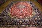 10' x 14' Red Persian Hand-Knotted Soft Durable Najaf Isfahan Rug