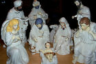 10 PIECE CERAMIC NATIVITY SET W GOLD AND JEWEL ACCENTS LARGE SIZE CHARACTERS