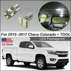 15pcs LED Interior Light White for 2015-2017 Colorado Canyon Package + Tool