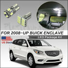 8pcs LED Interior Lights Bulbs White for 2008-up Buick Enclave kit Package+Tool