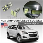 13pcs LED Interior Lights Bulb White for 2010-2016 Chevy Equinox Package+Tool