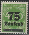 Stamp Germany Reich Mi 287 Sc 251 1923 Inflation Number Circle Overprint MH