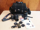 Canon EOS 20D Digital Camera Bundle 18 55 MM 75 300 MM Case Lenses Fresh Battery