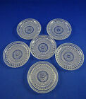 6 Arabia Kastehelmi Glass Coasters Oiva Toikka Art Glass Finland
