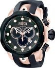 USED Invicta Venom Men's Black Rubber Strap Swiss Quartz Watch Rose Gold Case