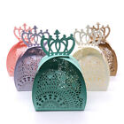 10pcs Laser Cut Crown Paper Candy Box Baby Shower Wedding Party Gift Decor