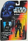 SStar Wars 1995 POTF Tie Fighter Pilot with Imperial Blaster Rifle MOC Red Card