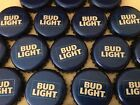 100 Lot New Current RETRO BUD LIGHT Beer Bottle Caps Crowns NO DENTS Clean