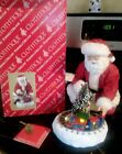 Clothtique Possible Dreams North Pole Express Santa Train Christmas Lighted HTF