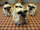 Primitive Handcrafted Grubby Sheep Ornies* Shelf Sitters* set/4* Bowl Fillers