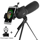 Zoom 25 75X70 Angled Spotting Scope Optical Prism Monocular Waterproof W Tripod