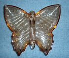 VINTAGE JEANNETTE AMBER GLASS BUTTERFLY SPLIT SERVING DISH EXCELLENT CONDITION