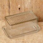 New Primitive Antique Style Vintage BUTTER DISH Glass Holder