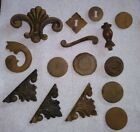 old antique cupboard furniture marker wood trim pieces
