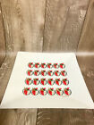 Vintage Mid Century Modern George Briand Glass White Strawberries Serving Tray