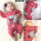 Newborn Toddler Infant Kid Baby Boy Girl Clothes T shirt Tops+Pantst Outfits Set