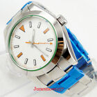 40mm Polished PARNIS Herrenuhren Leuchtend Saphirglas Automatisch Men's Watch